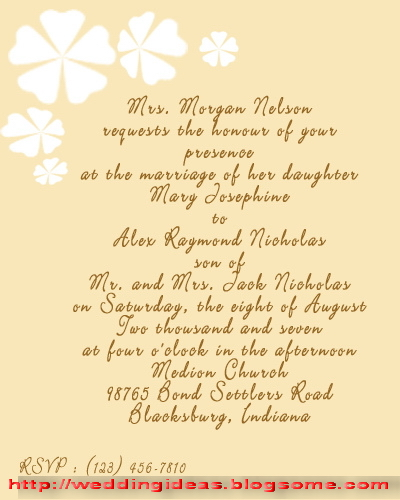 sister wedding invitation message in english ~ yaseen for Wedding Invitation Quotes For Brother Marriage here some wedding invitati? flickr wedding invitation quotes for brother marriage