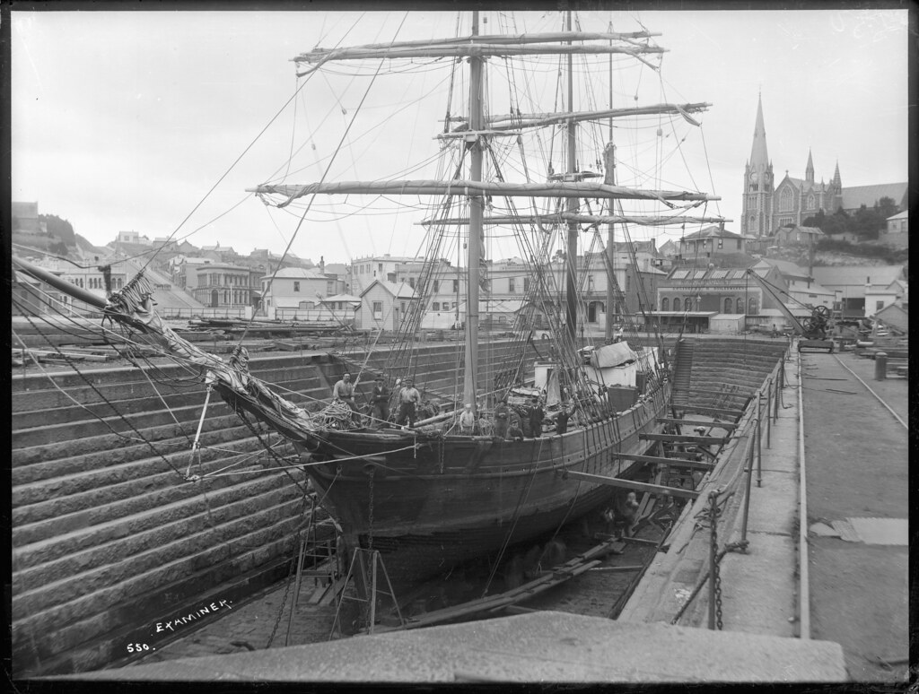 Sailing Ship Examiner In The Port Chalmers Graving Dock F
