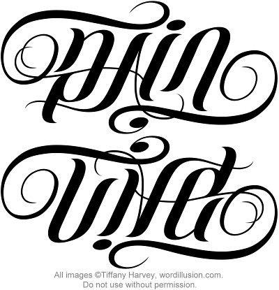 Ambigram tattoo download lengkap for Two words in one tattoo generator