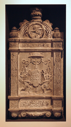 Luik, Wallonie, Curtius museum, in praise of archbishop Erard Marck, tablet with his coat-of-arms | by groenling