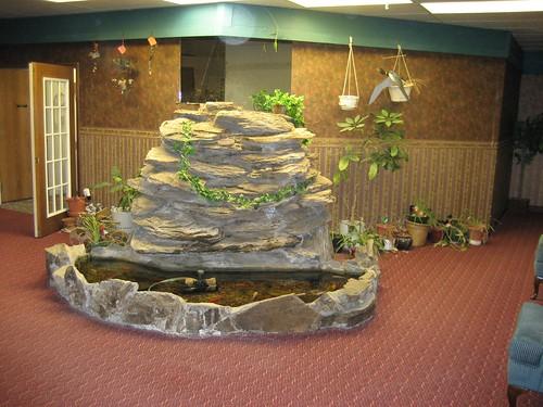 Motel indoor koi pond flickr photo sharing for Design criteria of pond