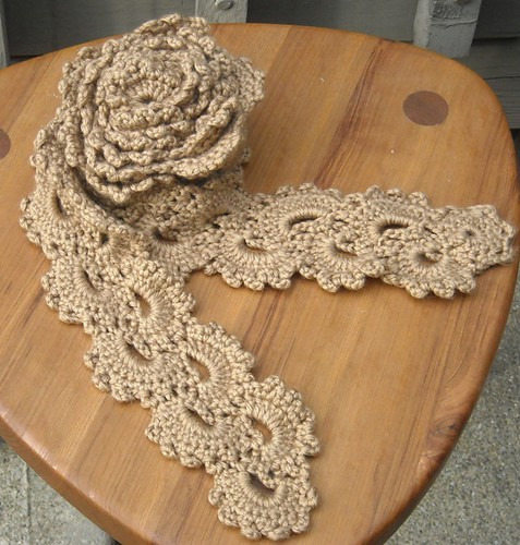 crochet lace scarf bamboo silk wool blend crochet lace mot ...