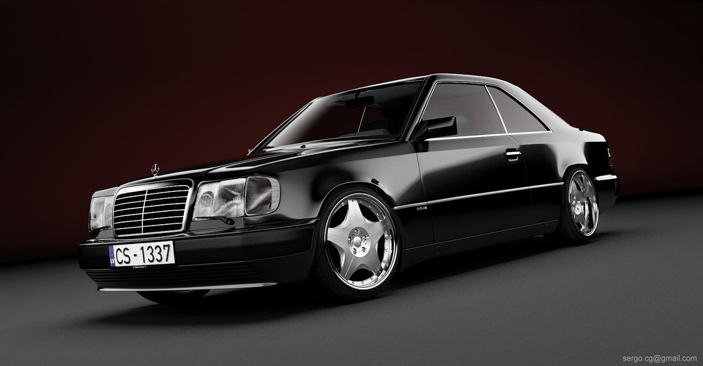 mercedes w124 coupe 3d yep another one sergey eizhvertinsh flickr. Black Bedroom Furniture Sets. Home Design Ideas