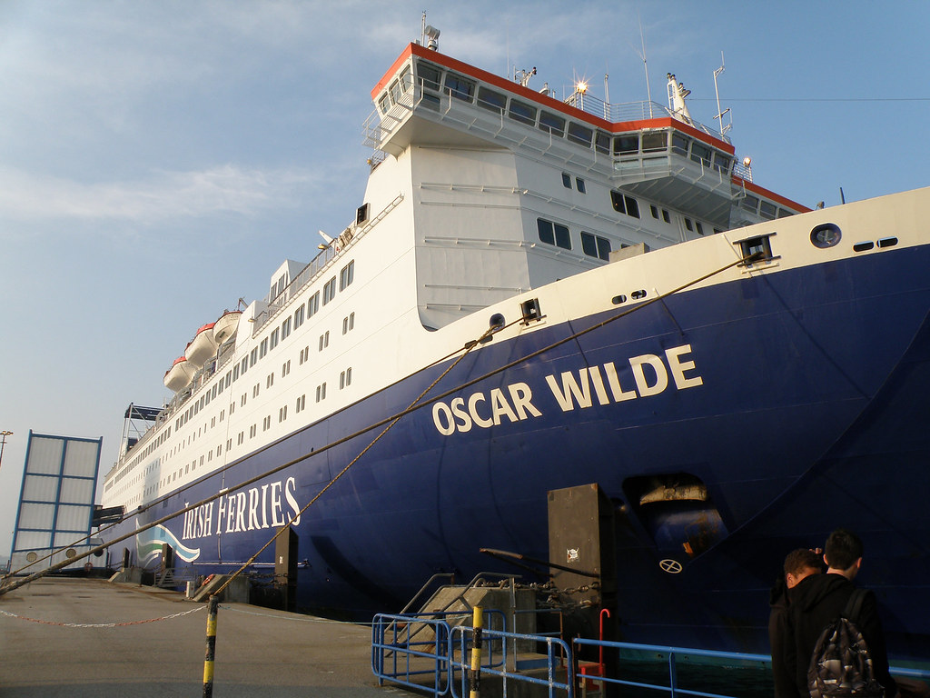 Irish Ferries Oscar Wilde Our Ferry In Cherbourg Just