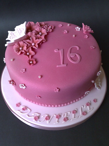 Pink Foral Birthday Cake Flickr Photo Sharing