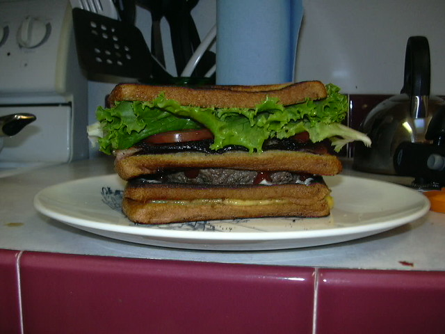 BLT grilled cheese burger | photo and creation by a friend ...
