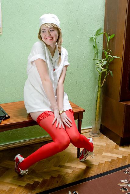 Red Stockings Girl - drug123 - Flickr