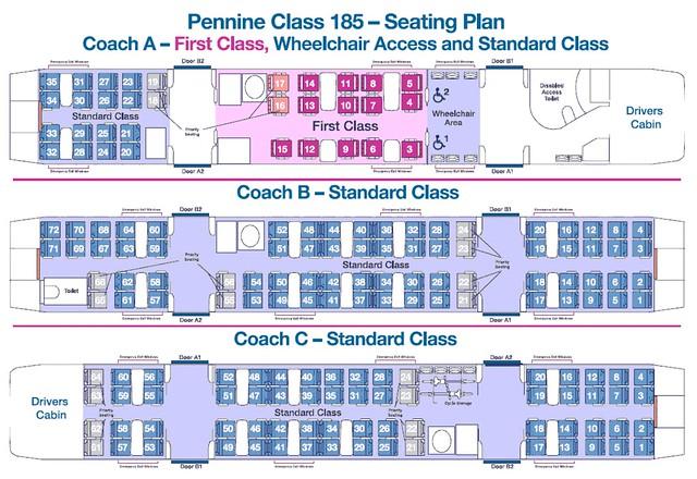 Pennine Class 185 Train Plan Uk Simon Pielow Flickr