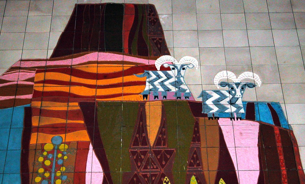 5 legged goat contemporary resort mural ray flickr for Contemporary resort mural