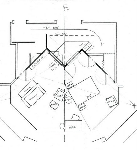 Plaza Suite By Neil Simon Set Design Ground Plan Set