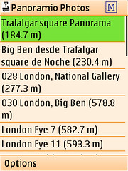 Locify - view list of nearby Panoramio photos