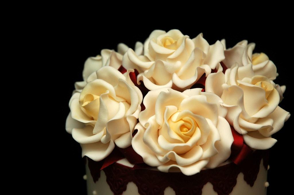 Розы из сливки мастер класс