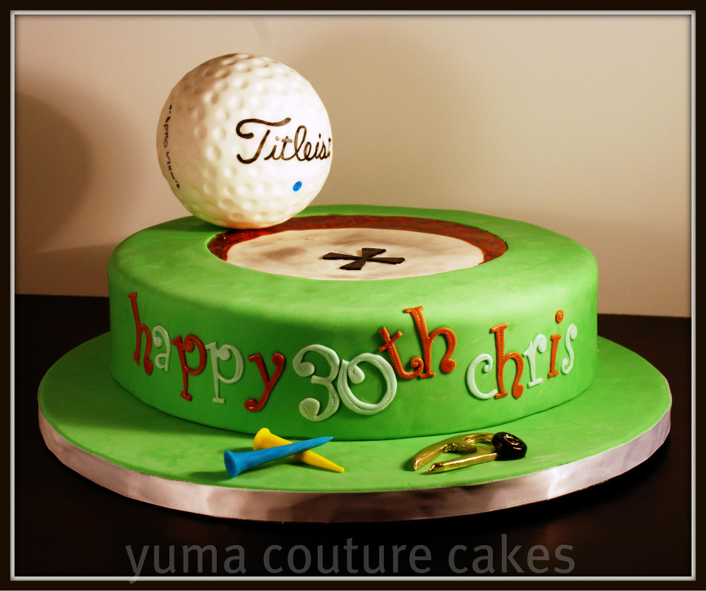 For A Golfer's Birthday. Divot