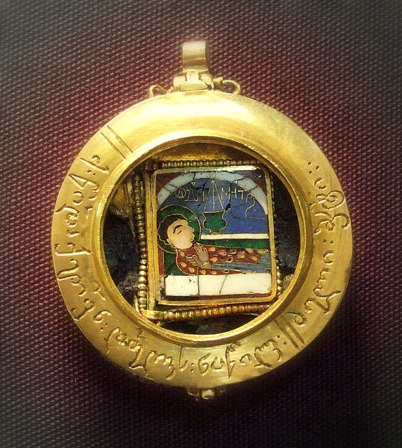 Reliquary pendant british museum enamelled gold shows st flickr reliquary pendant by kotomi reliquary pendant by kotomi mozeypictures Images