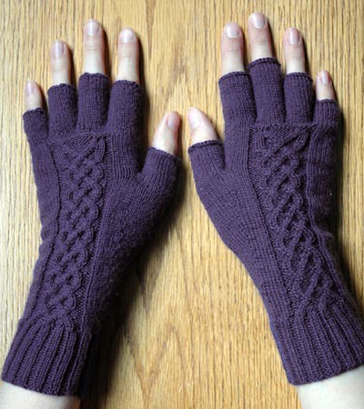 Knitting Pattern Of Gloves : Knit tipless gloves with celtic cable The tipless glove pa? Flickr