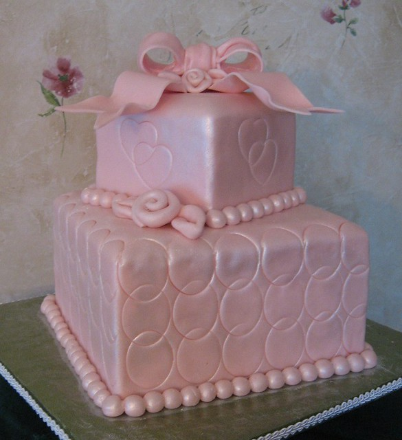 pink bridal shower cake by tn something special cakes