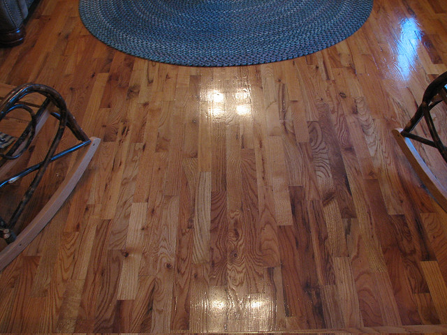 Rustic red oak flooring flickr photo sharing for Rustic red oak flooring