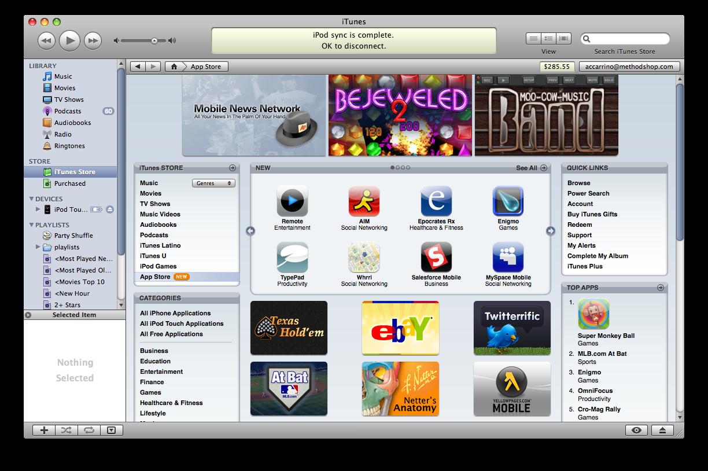 Apple App Store In Itunes