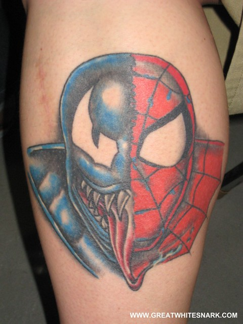 Spider Man Venom Carnage Tattoo: Spider-Man And Venom Tattoo At San Jose Super-Con 2008