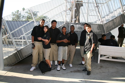 "Oct 2008: Animo ""Green"" School Opening in Los Angeles: Students 