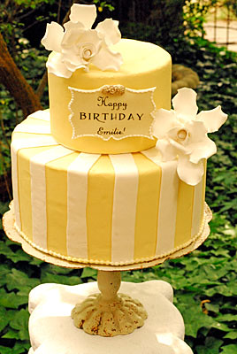 Garden Party Cake Images : Emilie garden party cake Pale yellow fondant and white ...