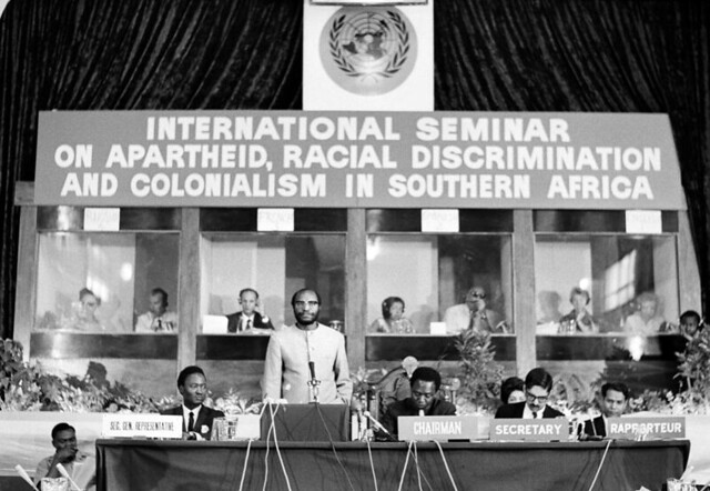 The political support of anti apartheid in the republic of south africa