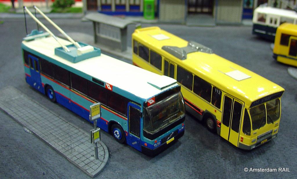 Model Bus Encounter My Home Built Yellow Den Oudsten