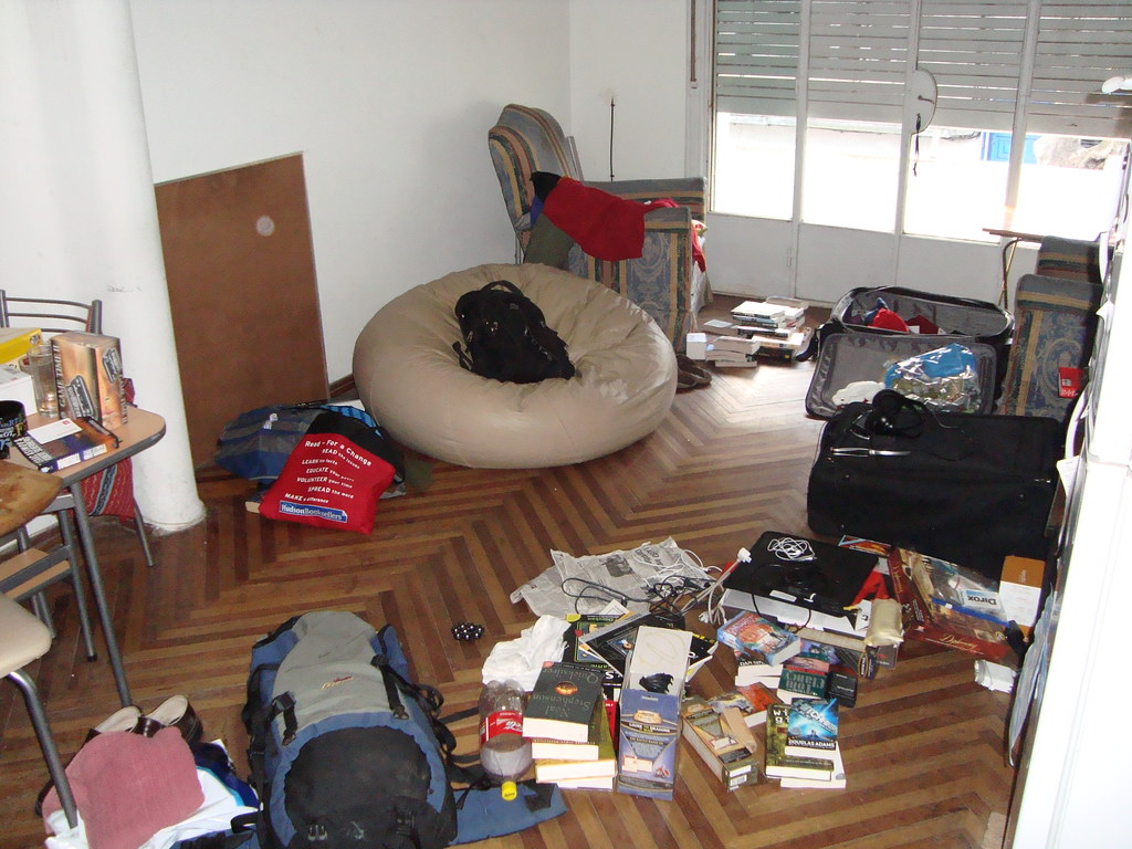 Incredible Very Messy Living Room
