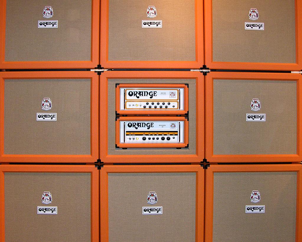 Wall Of Orange Amps  Mark Dalzell Flickr