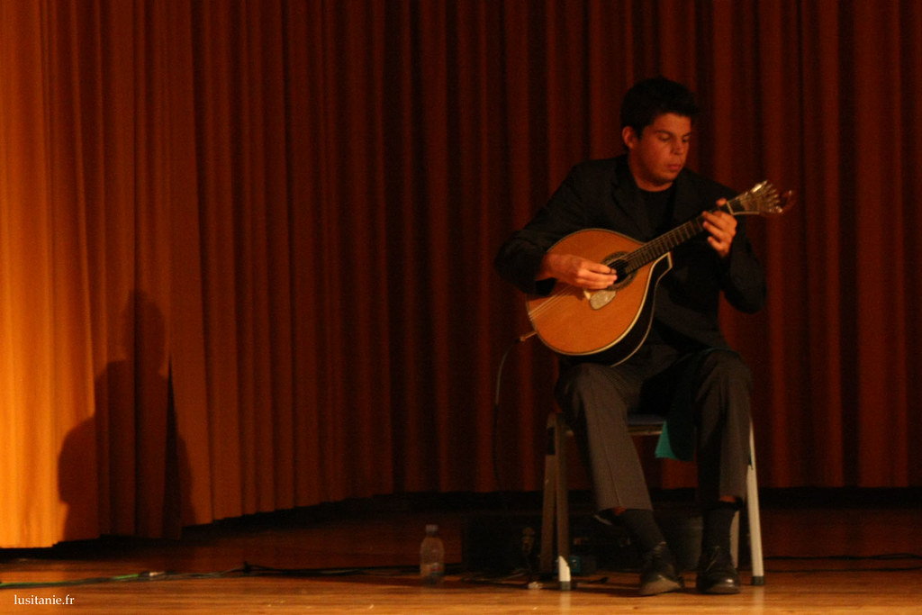 Joueur de guitare portugaise