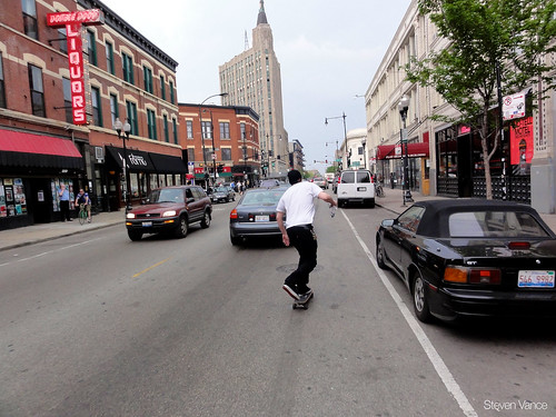 Skateboarding through Wicker Park | by Steven Vance