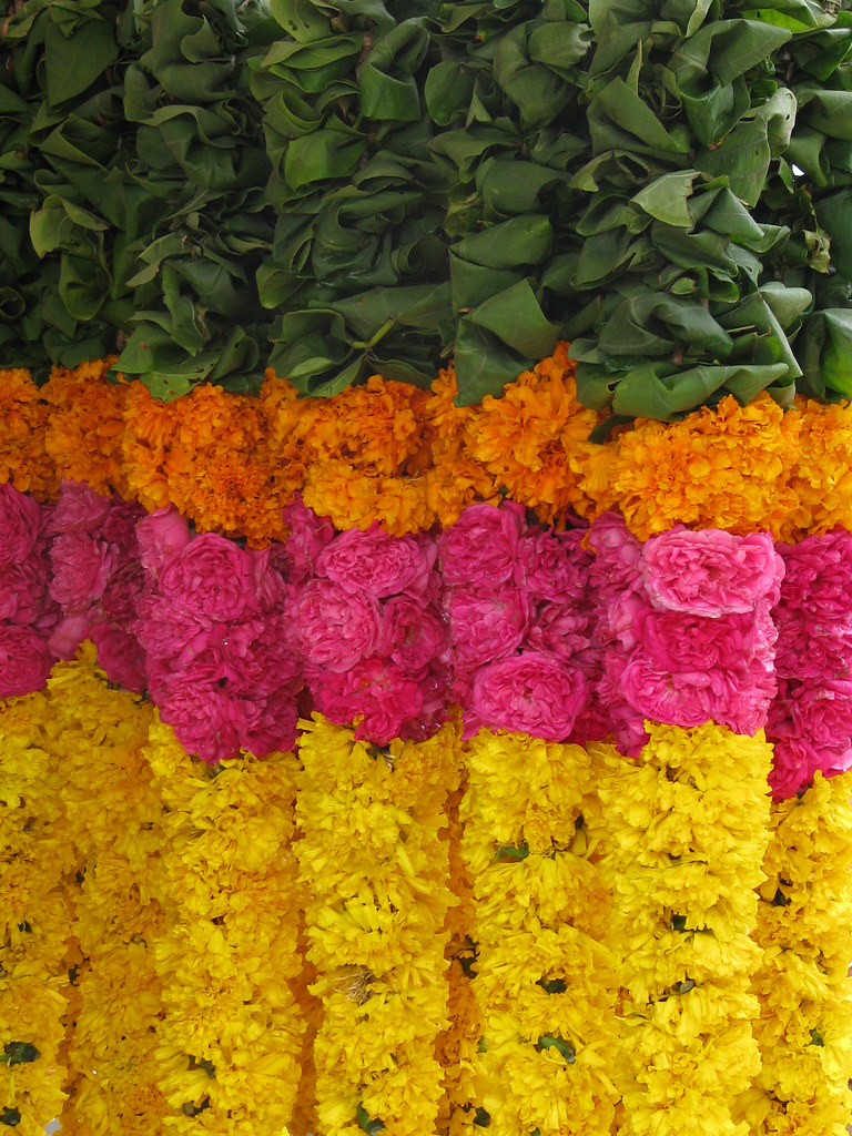 India - Colours of India - Flower garlands for sale 1 | Flickr
