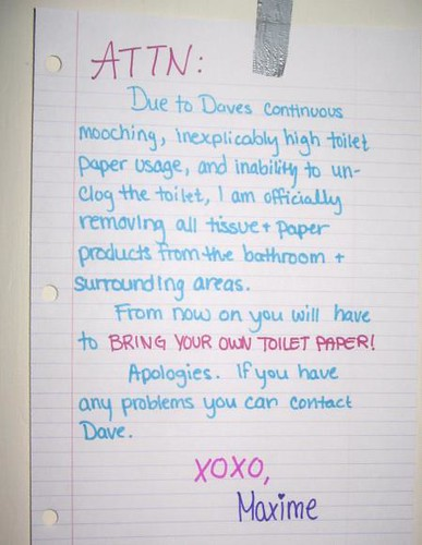 You might want to steer clear of the hand towels | by passiveaggressivenotes
