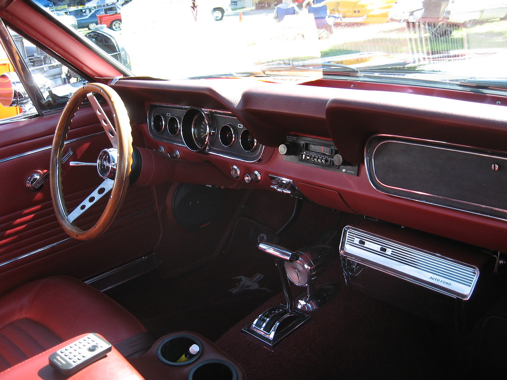 New Mustang Gt >> 1966 Ford Mustang GT Interior with 45 record player | Flickr