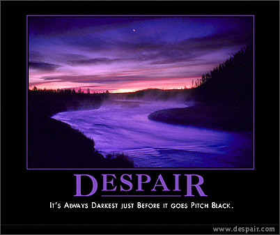 """More """"dark humor""""   Again from www.despair.com - literally ..."""