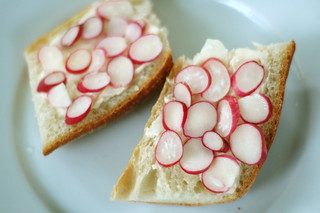 Radishes with Butter, Sea Salt, and Baguette | by The Food Section