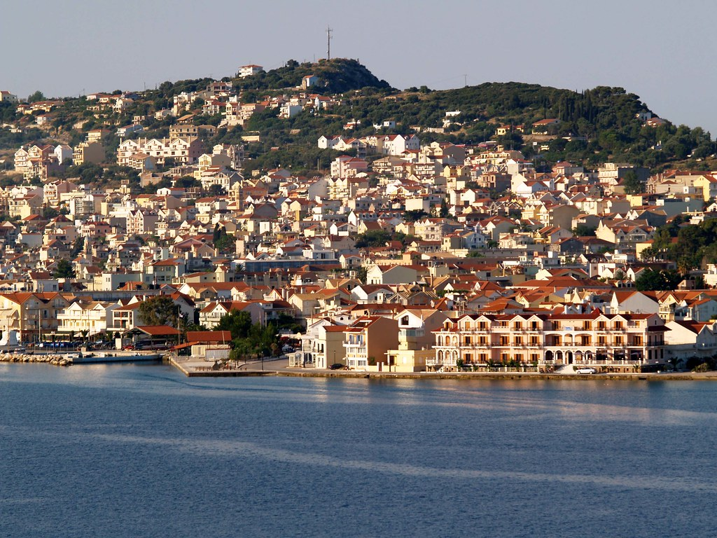 Argostoli, Cephalonia in the Early morning Sun  The early ...