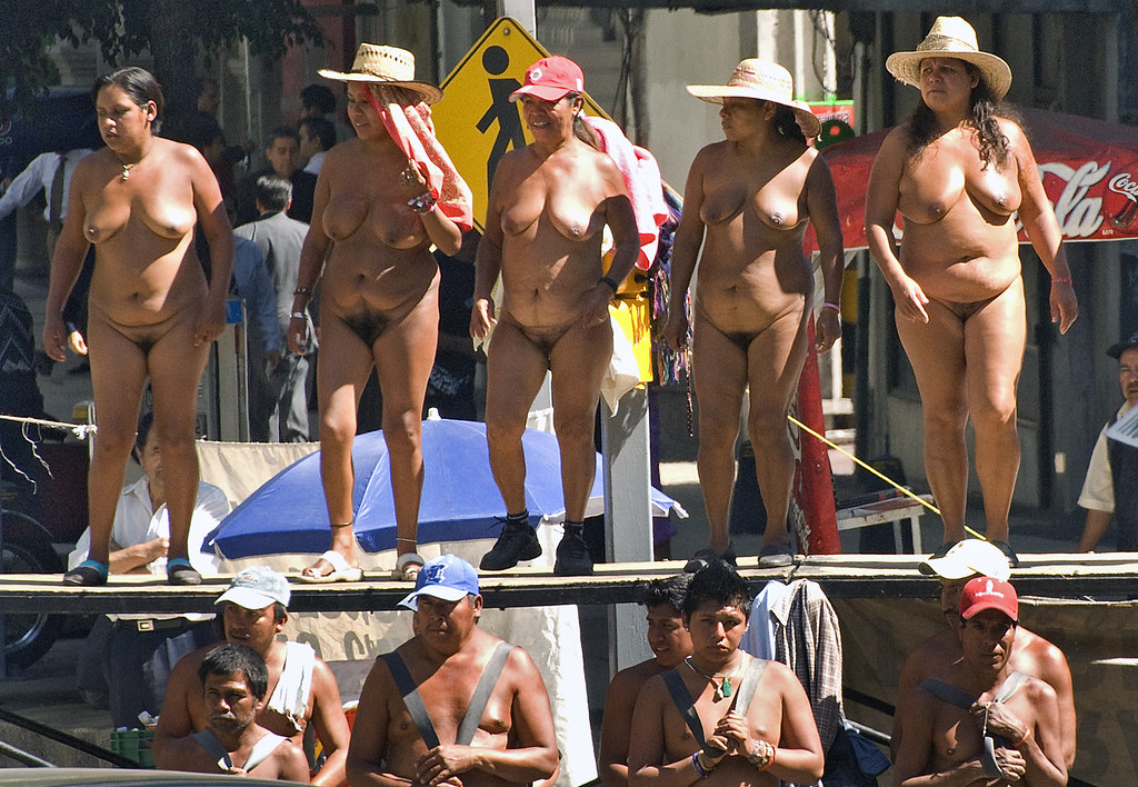 Mexican protesters naked