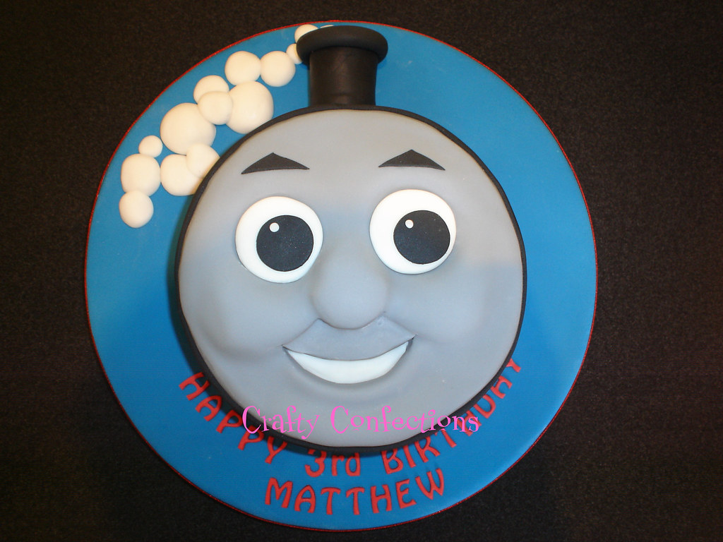 Thomas the tank engine cake i did this cake a week ago for Thomas the tank engine face template