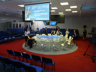 "Presentation Table at St. Petersburg International Economic Forum (""SPIEF"") 