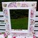 Shabby Chic Mosaic Tile Rose adorned mirror