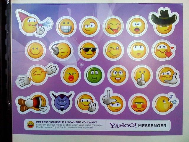 messenger emoticons Yahoo
