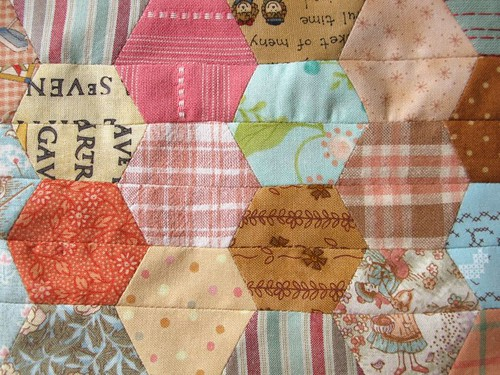 Hexagon Patchwork | by PatchworkPottery