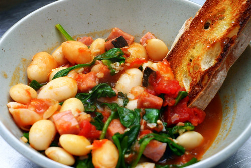 fast white bean stew | by smitten kitchen