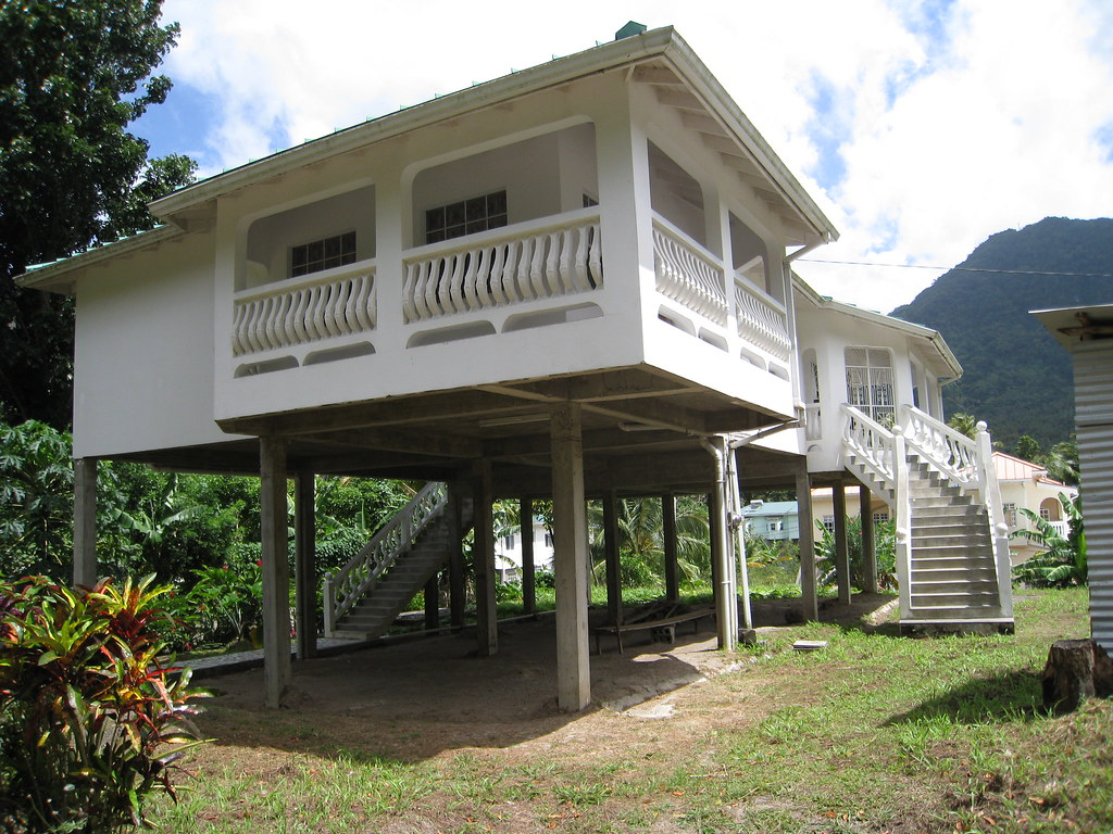 Stilts A Vast Majority Of The Houses In Saint Lucia Are