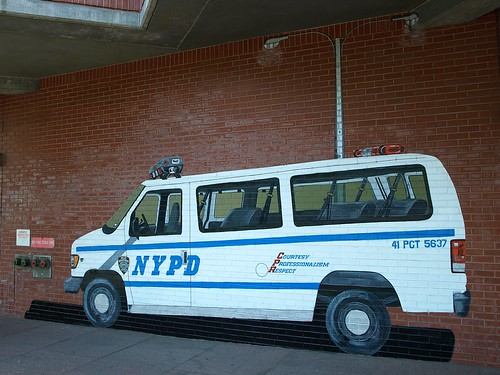 P041s NYPD Van Mural at Police Station Precinct 41, Longwood, Bronx, New York City | by jag9889