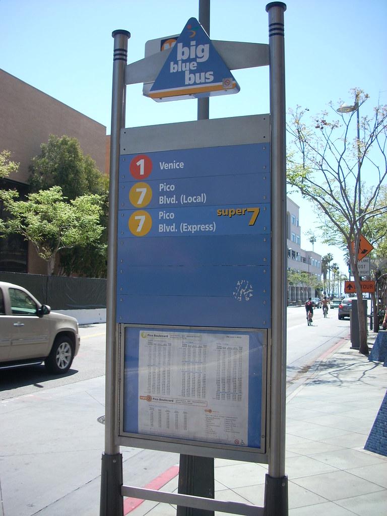 Big Blue Bus Kiosk Stop Santa Monica S Big Blue Bus Instal Flickr