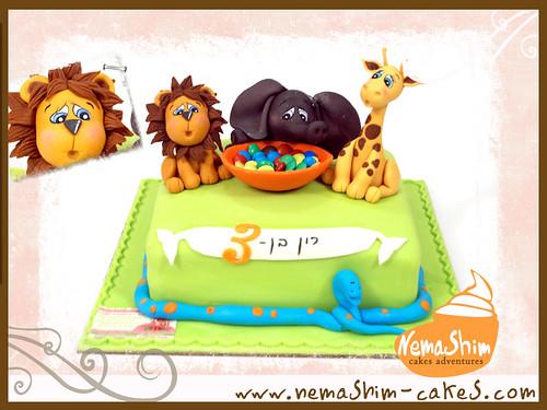 Wild Animal Birthday Cake