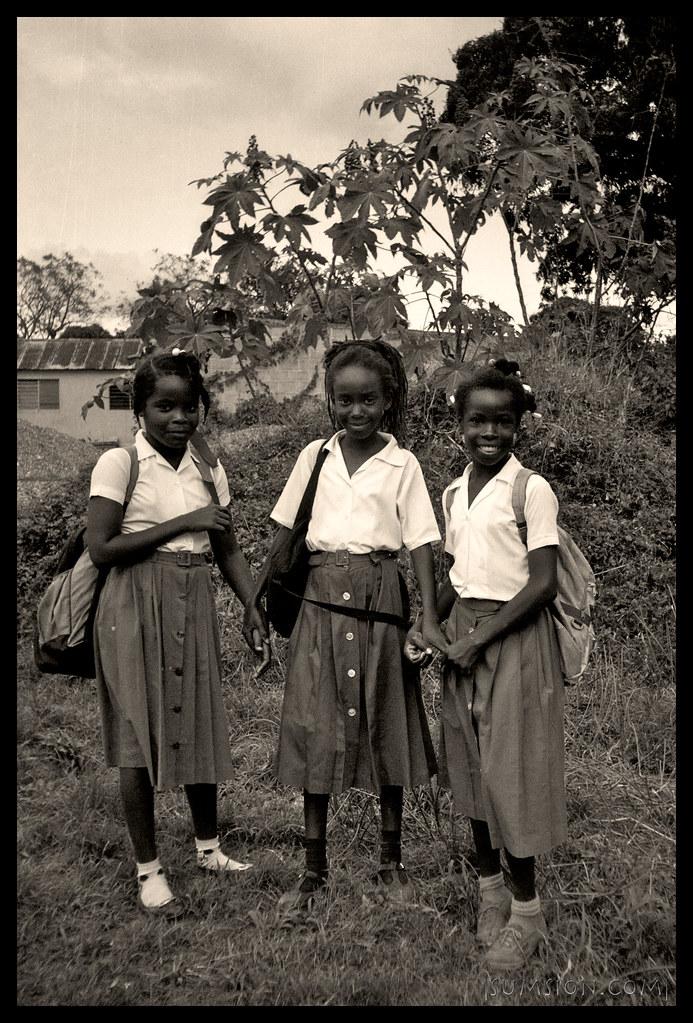 School Girls - Jamaica 1990  Classic Jamaican School -8457