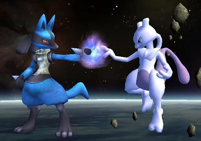 Lucario and Mewtwo | Two alike fighters Lucario and Mewtwo ...